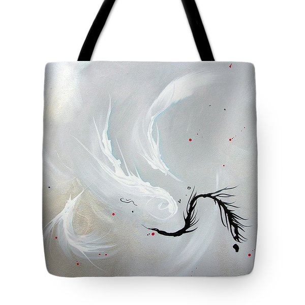 Tote Bag featuring the painting Feathers by Mary Kay Holladay