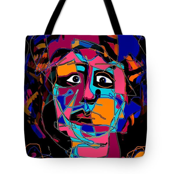 Feeling Blue Tote Bag by Natalie Holland