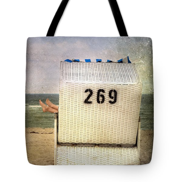 Feet And Beach Chair Tote Bag by Joana Kruse