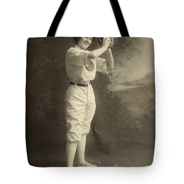 Female Baseball Player Tote Bag by Granger