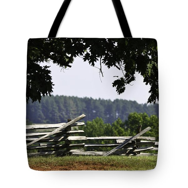 Fence At Appomattox Tote Bag by Teresa Mucha