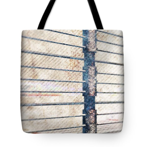 Tote Bag featuring the digital art Fence Post by Phil Perkins
