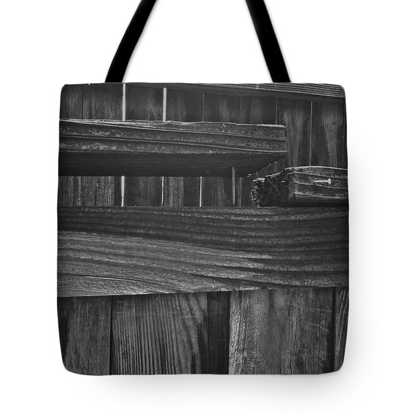 Fence To Nowhere Tote Bag by Bill Owen