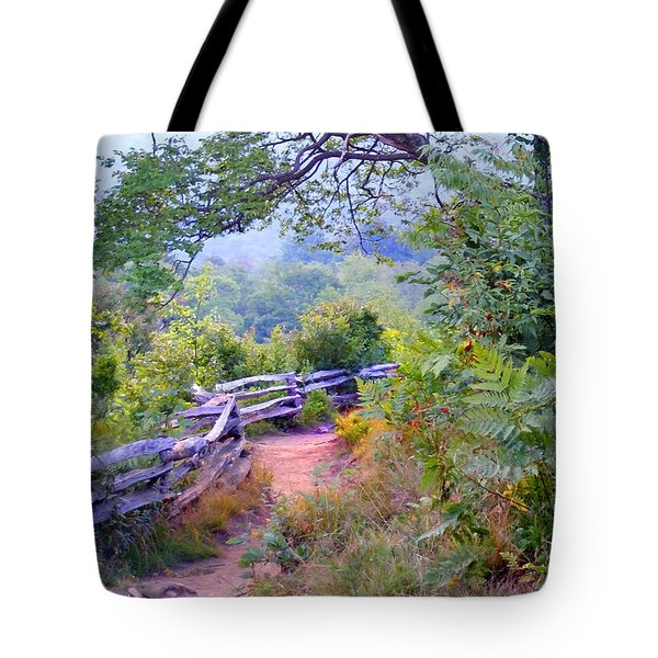 Fence To The Blueberries Filtered Tote Bag