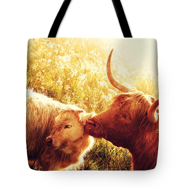 Fenella With Her Daughter. Highland Cows. Scotland Tote Bag