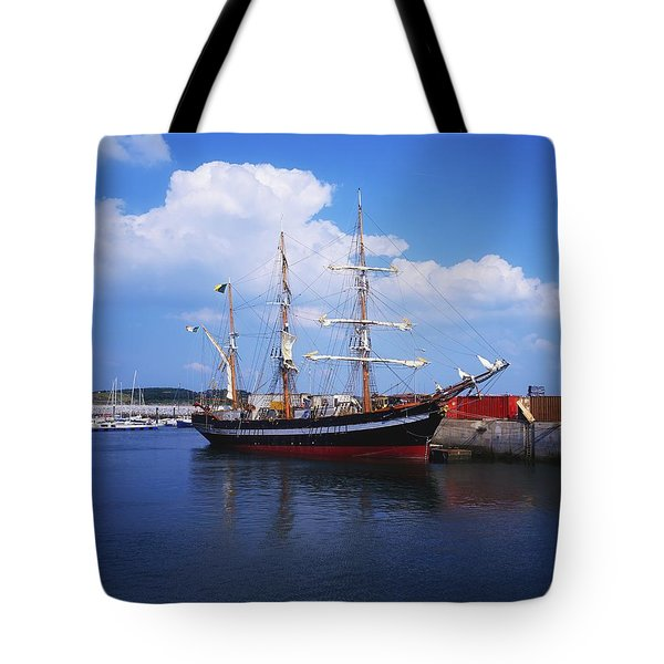 Fenit, Co Kerry, Ireland Famine Ship Tote Bag by The Irish Image Collection