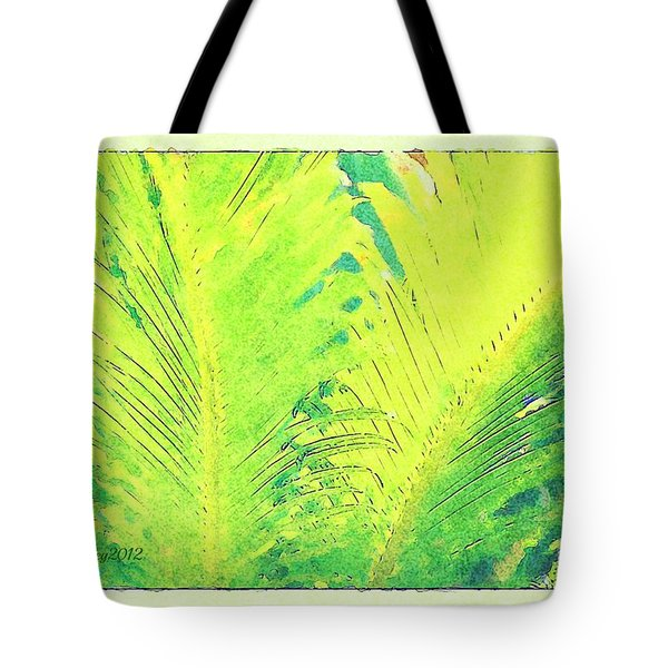 Tote Bag featuring the photograph Ferns by Donna Bentley