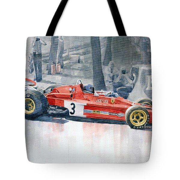 Ferrari 312 B3 Monaco Gp 1973 Jacky Ickx Tote Bag by Yuriy  Shevchuk