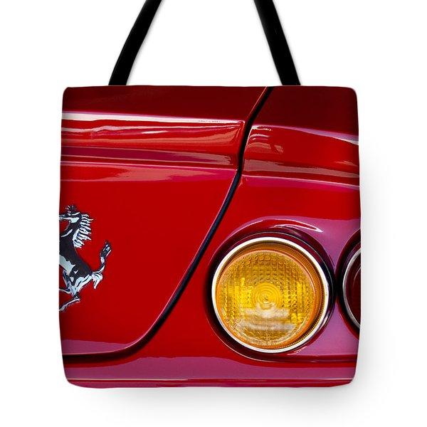 Ferrari Taillight Emblem 2 Tote Bag by Jill Reger