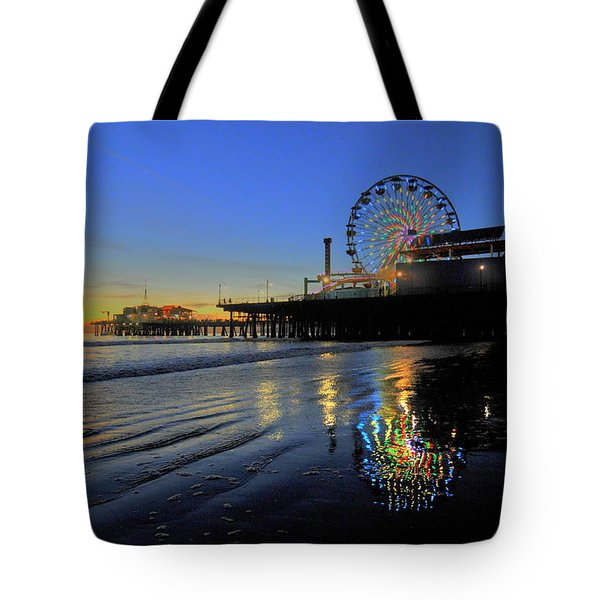 Ferris Wheel Sunset Tote Bag