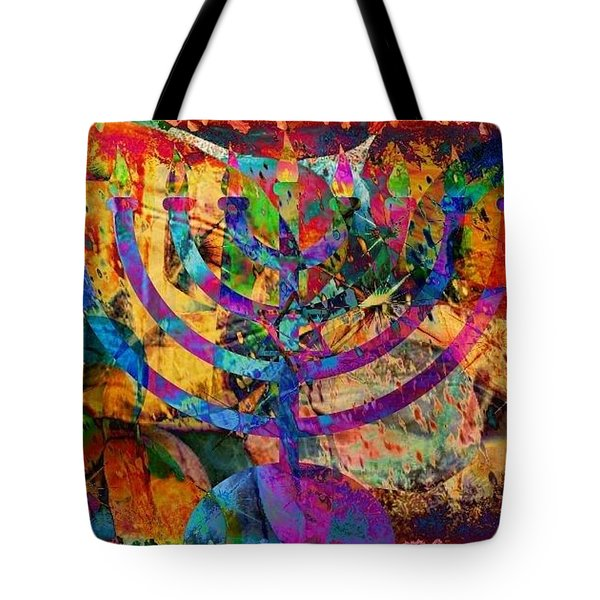 Festival Of Lights Tote Bag by YoMamaBird Rhonda