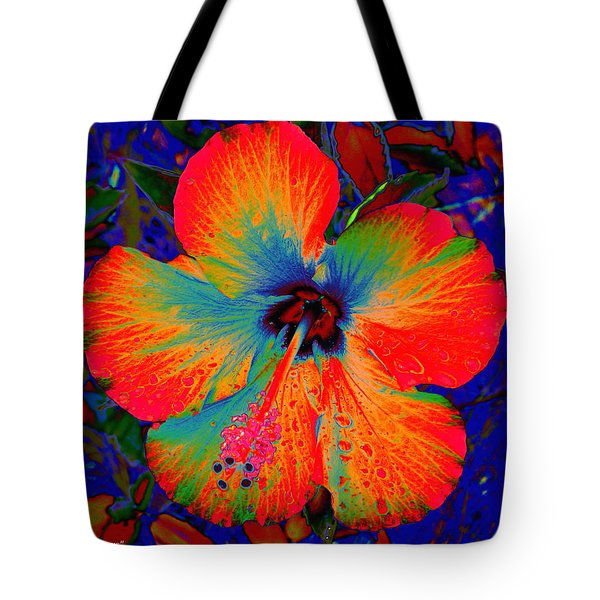 Festonned Hibiscus Tote Bag