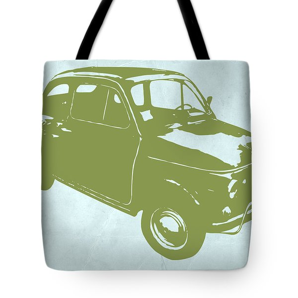 Fiat 500 Tote Bag by Naxart Studio