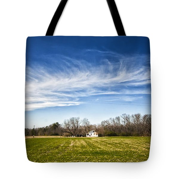 Tote Bag featuring the photograph Field And Sky by Jim Moore