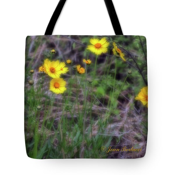 Tote Bag featuring the photograph Field Flowers by Joan Bertucci