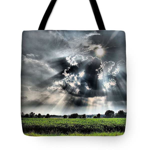 Field Of Beams Tote Bag