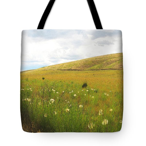Field Of Dandelions Tote Bag by Anne Mott