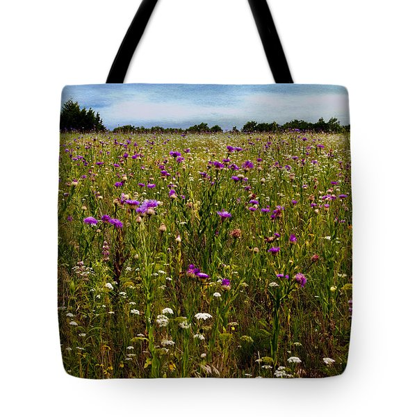 Field Of Thistles Tote Bag by Tamyra Ayles