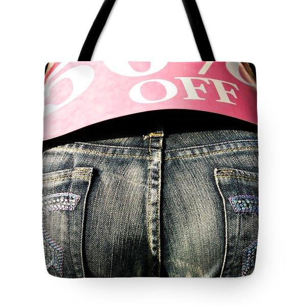 Fifty Percent Off Tote Bag