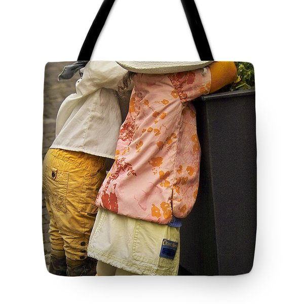 Figurines In Rural Dresses Tote Bag by Heiko Koehrer-Wagner