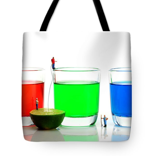 Filling Rgb Lemonade Tote Bag by Paul Ge