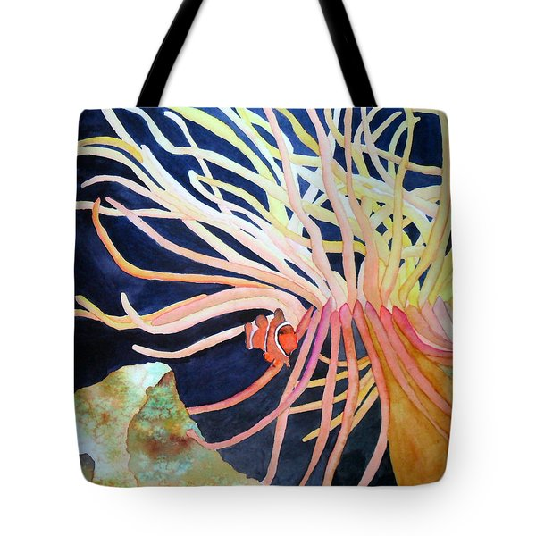 Tote Bag featuring the painting Finding Nemo by Laurel Best