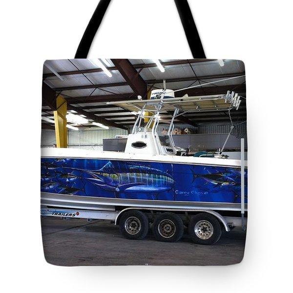 Fine Art Boat Wraps Tote Bag by Carey Chen