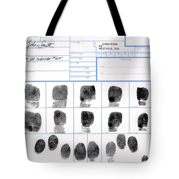 Fingerprint Identification Application Tote Bag by Science Source