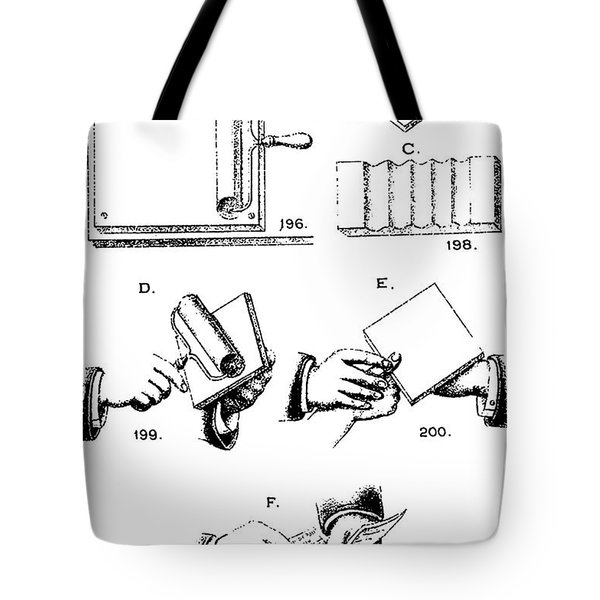 Fingerprinting Instructions, Circa 1900 Tote Bag by Science Source
