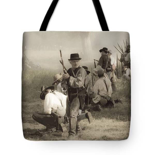 Fire At Will Tote Bag by Kim Henderson