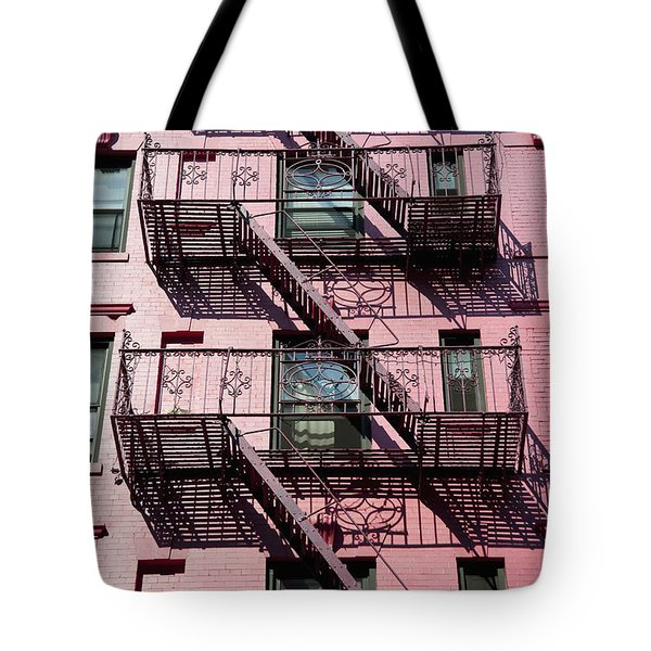 Fire Escape Tote Bag by Axiom Photographic