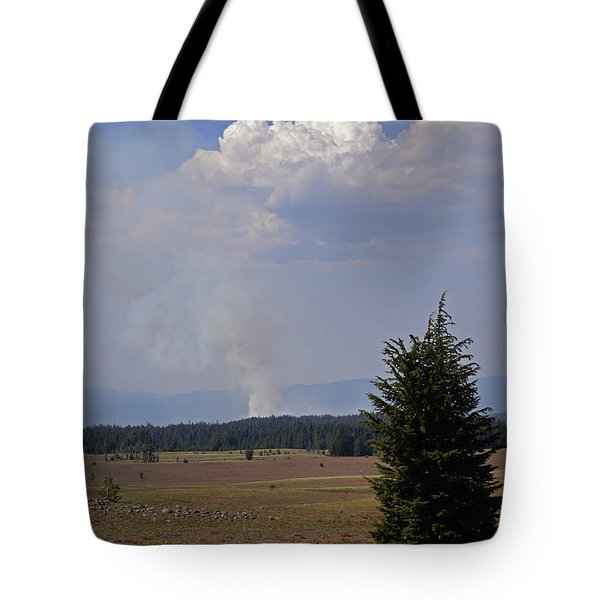Fire In The Cascades Tote Bag by Mick Anderson