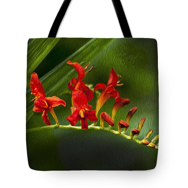 Fire In The Garden Tote Bag