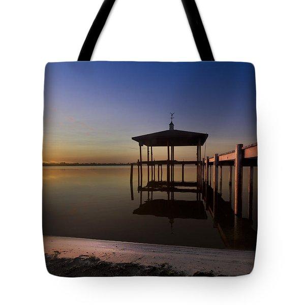 Fire Lake Tote Bag by Debra and Dave Vanderlaan