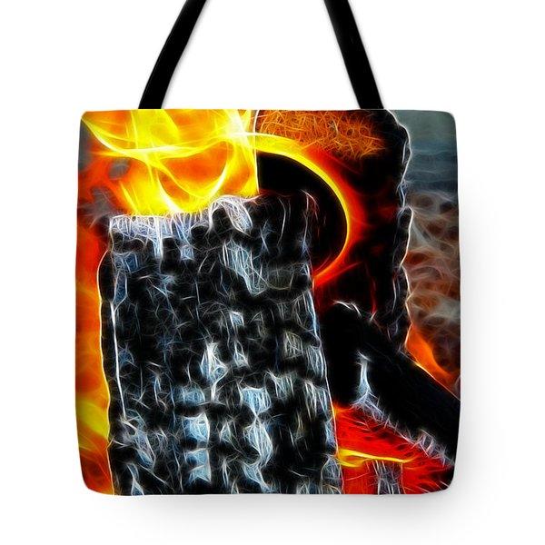 Fire Magic Tote Bag by Mariola Bitner