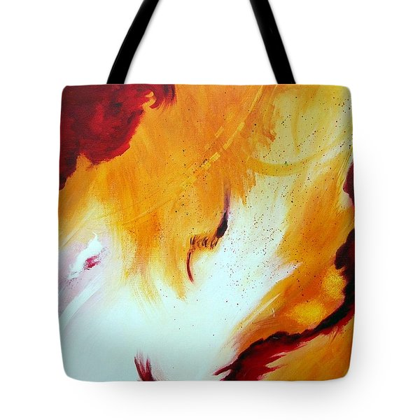Tote Bag featuring the painting Fire Storm by Mary Kay Holladay