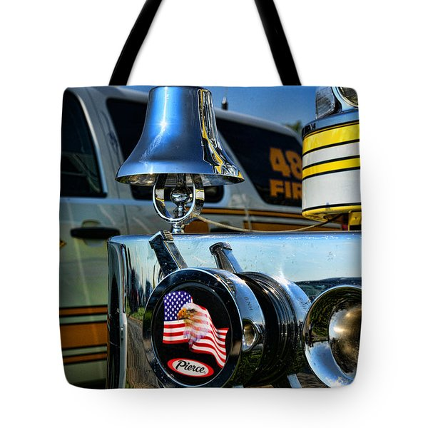 Fire Truck Bell Tote Bag by Paul Ward