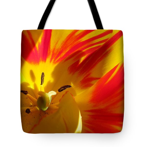 Fire Tulip Tote Bag