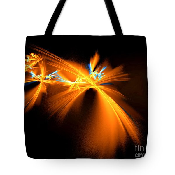Tote Bag featuring the digital art Fireflies by Victoria Harrington