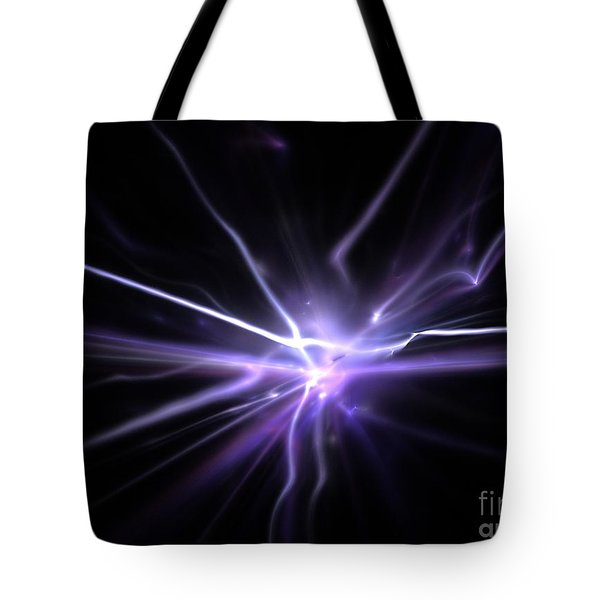 Tote Bag featuring the digital art Firefly by Kim Sy Ok
