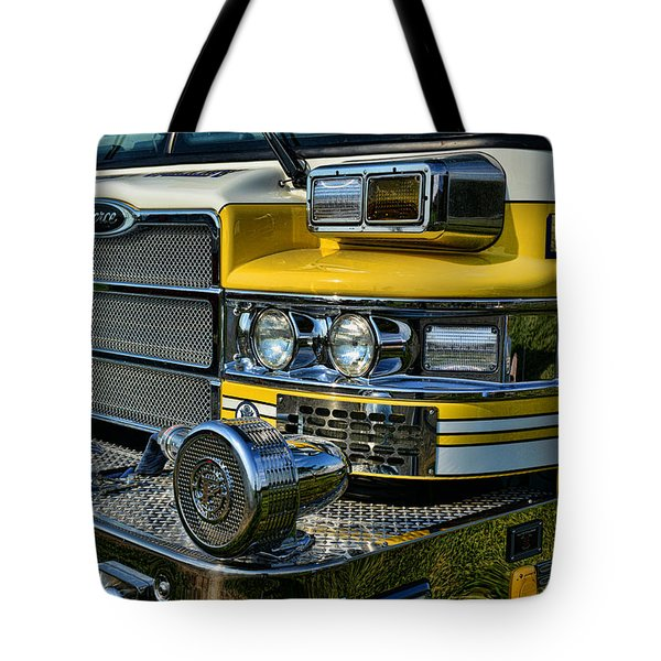 Fireman - Fire Siren Tote Bag by Paul Ward