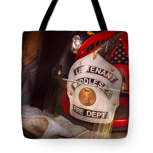 Fireman - Hat - The Lieutenants Cap  Tote Bag by Mike Savad