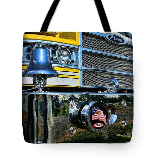 Fireman - Pierce Fire Truck Tote Bag by Paul Ward