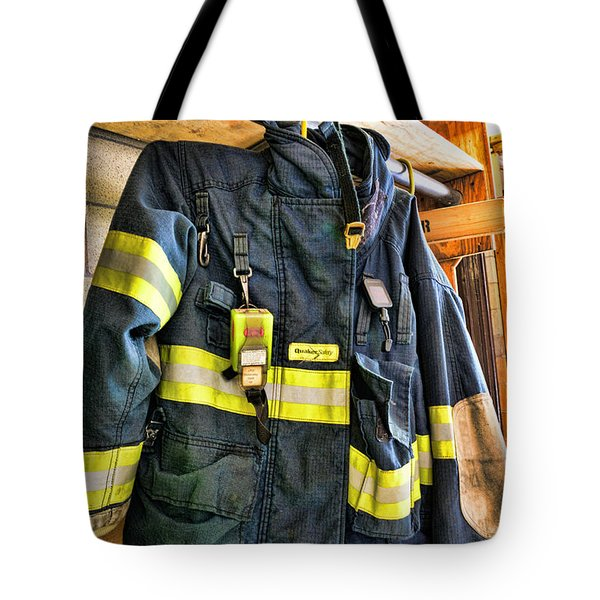 Fireman - Saftey Jacket Tote Bag by Paul Ward