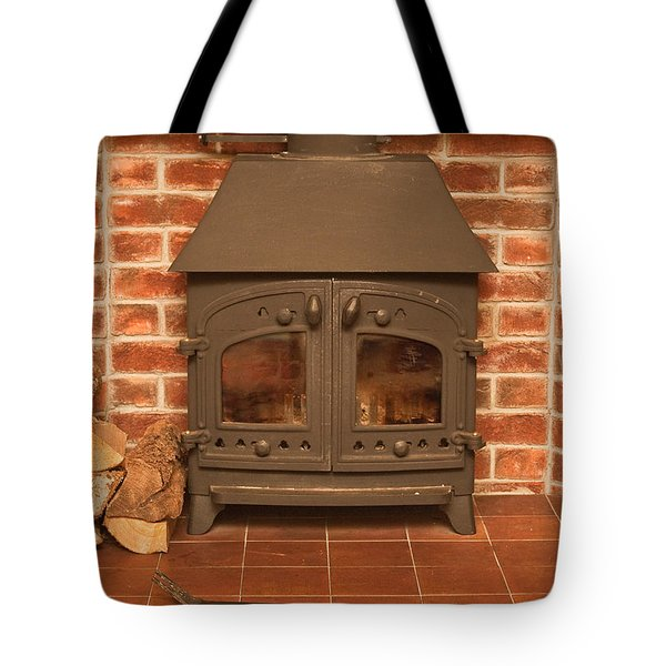 Fireplace Tote Bag by Tom Gowanlock