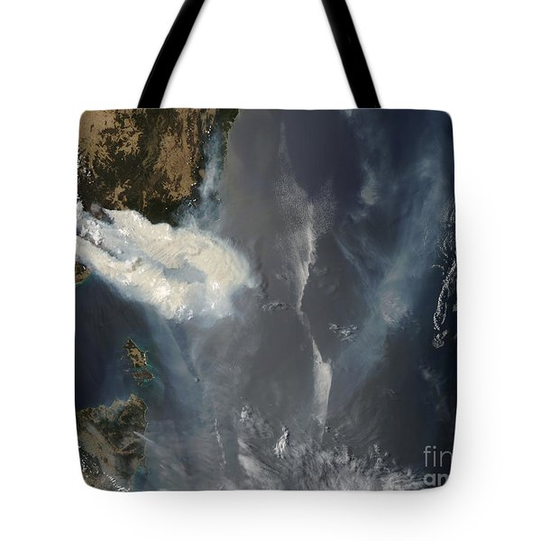 Fires And Smoke In Southeast Australia Tote Bag by Stocktrek Images