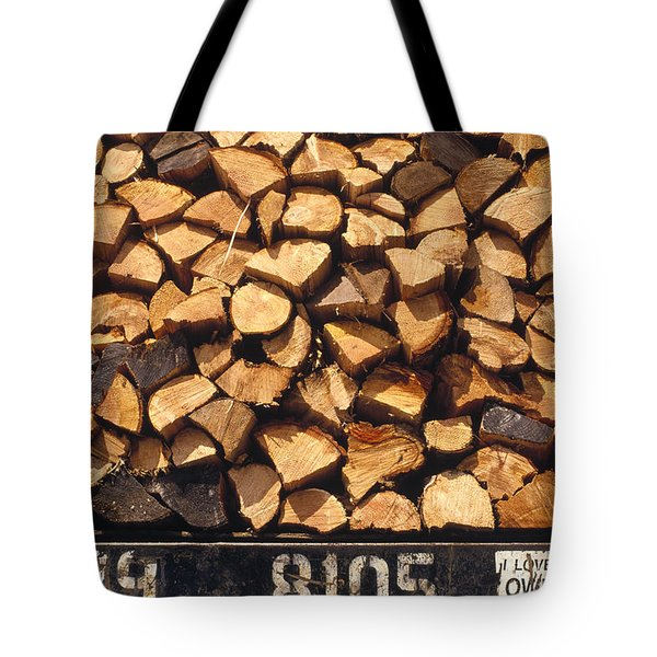 Firewood Hauled From Clearcut On Truck Tote Bag
