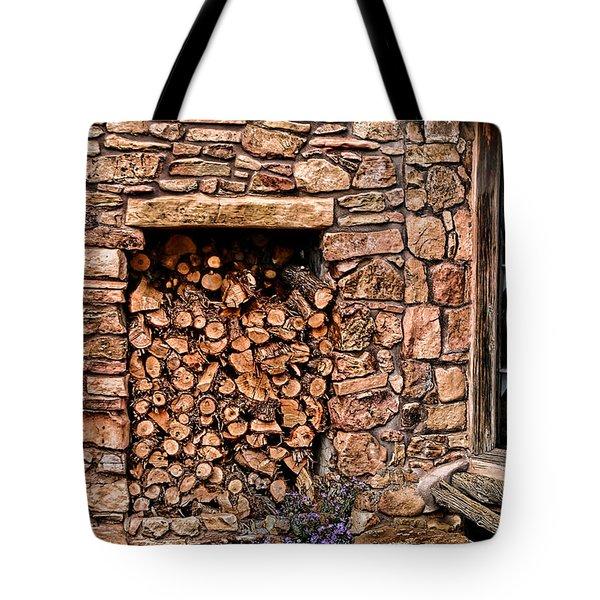 Firewood Tote Bag by Tom Prendergast