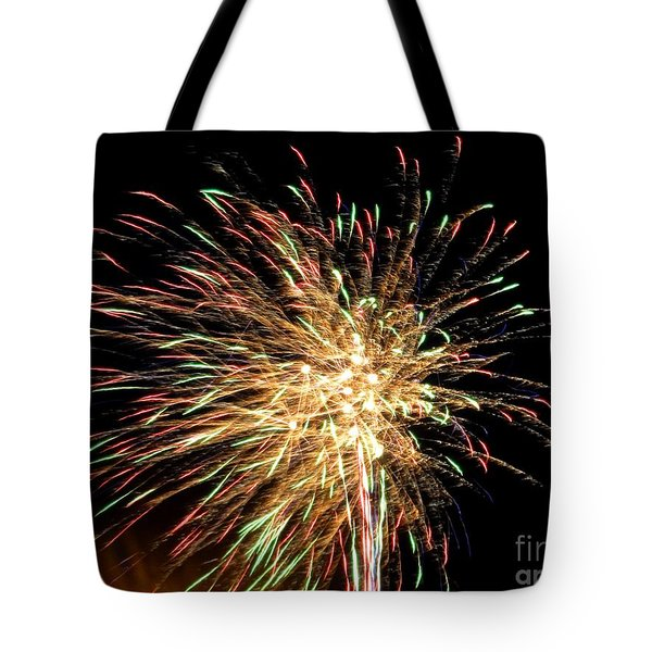 Firework Tote Bag by Meandering Photography