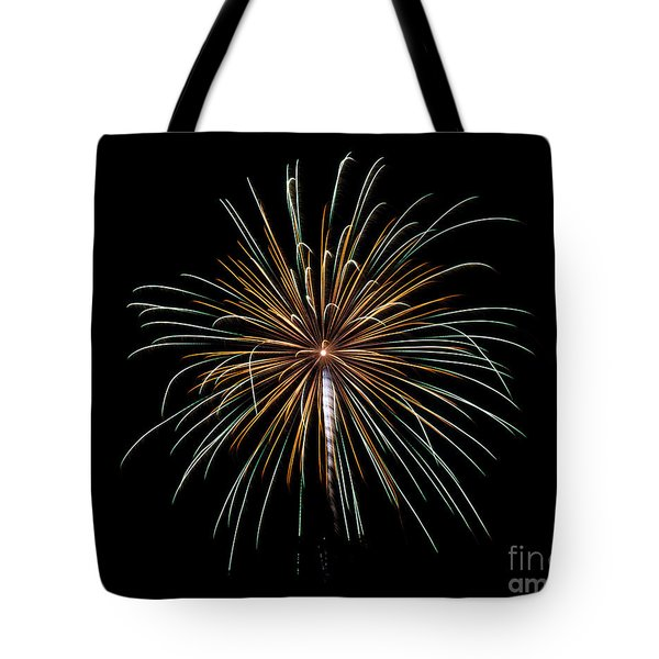 Tote Bag featuring the photograph Fireworks 10 by Mark Dodd